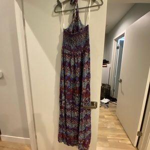 Print Halter Dress